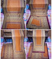 Songket Palembang Bunga Cina Warna Orange